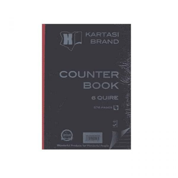 COUNTER BOOK A4 6Q 576 PAGES
