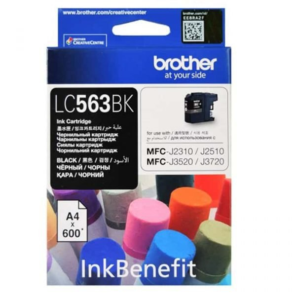 LC563 BLACK INK CARTRIDGE BROTHER