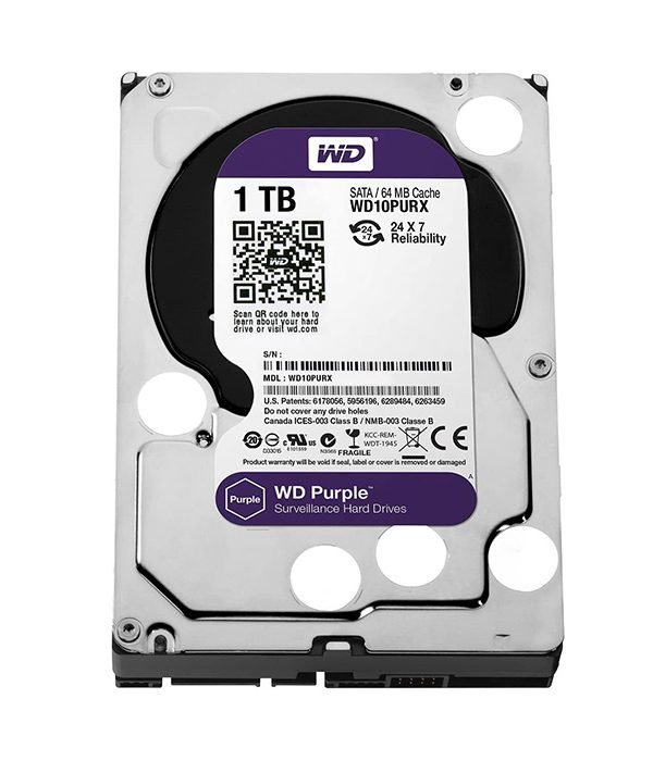 WESTERN DIGITAL 1TB SURVEILLANCE HARDDISK (PURPLE SERIES)
