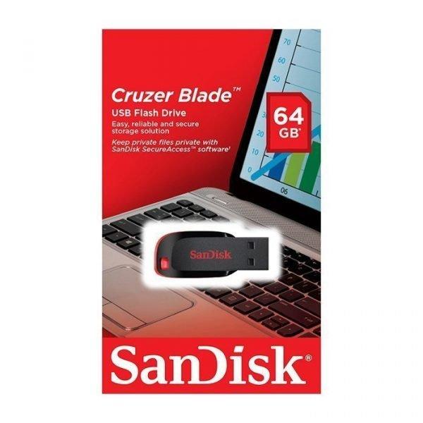 SANDISK 64GB CRUZER EDGE FLASH DISK