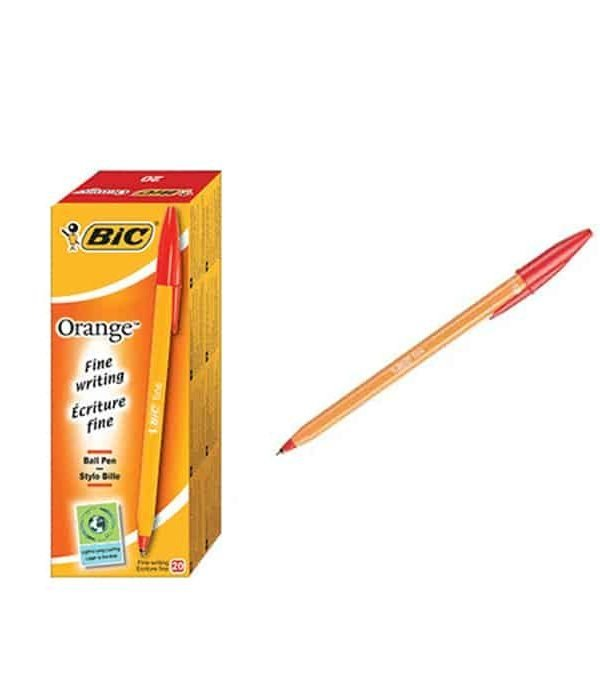 BIC fine Pointed Red Pack 20 0.7mm