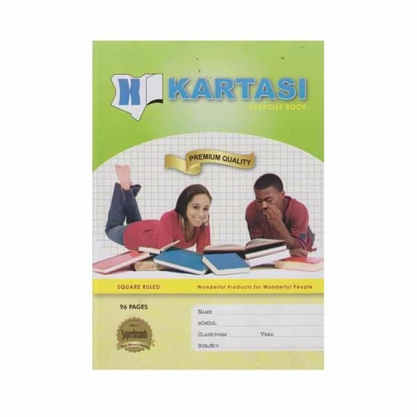 Kartasi Exercise Book A4 Squared 96 Pages