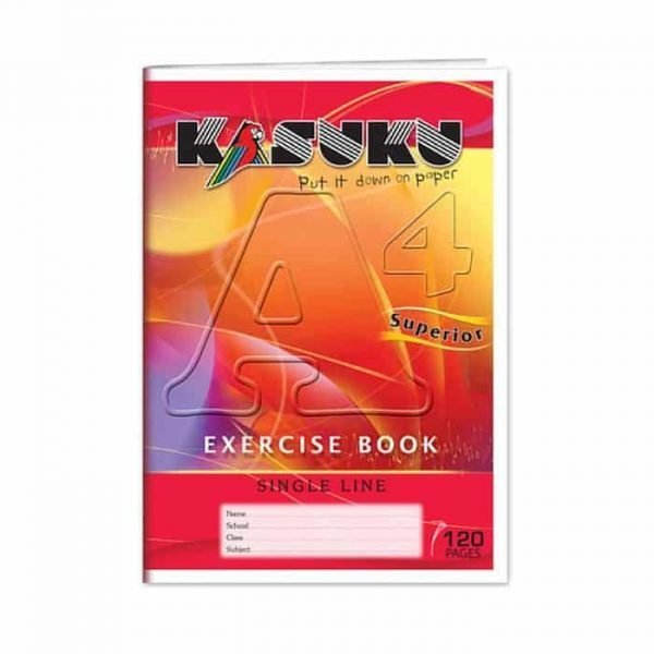 Kasuku Exercise Book A4 Single line 120 Pages