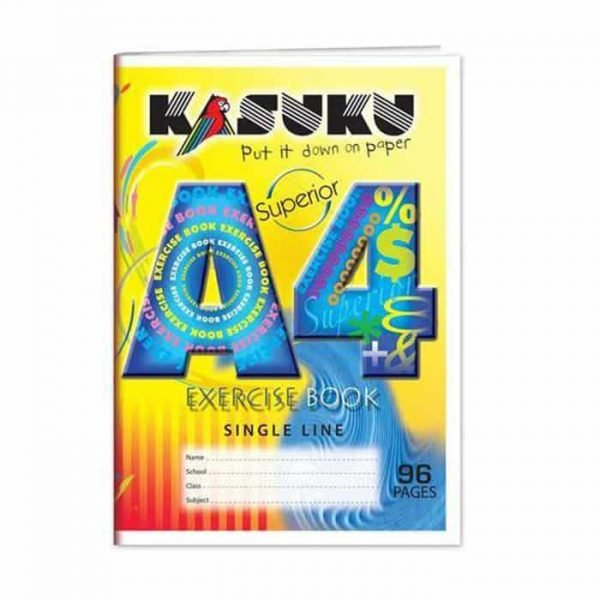 Kasuku Exercise Book A4 Single line 96 Pages