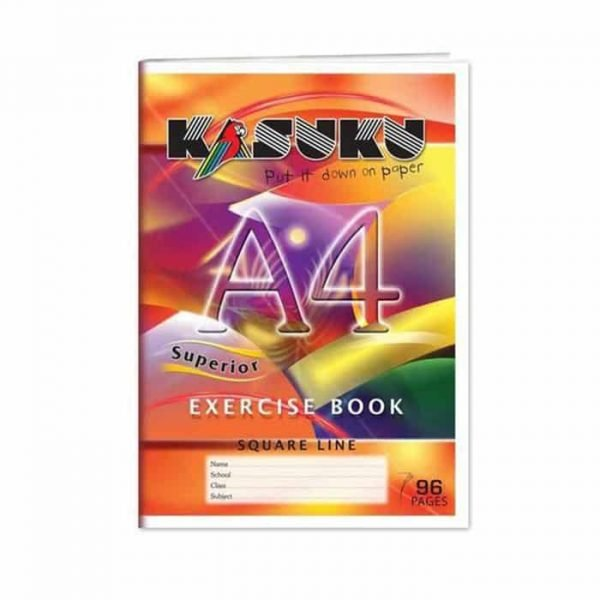 Kasuku Exercise Book A4 Squared 96 Pages