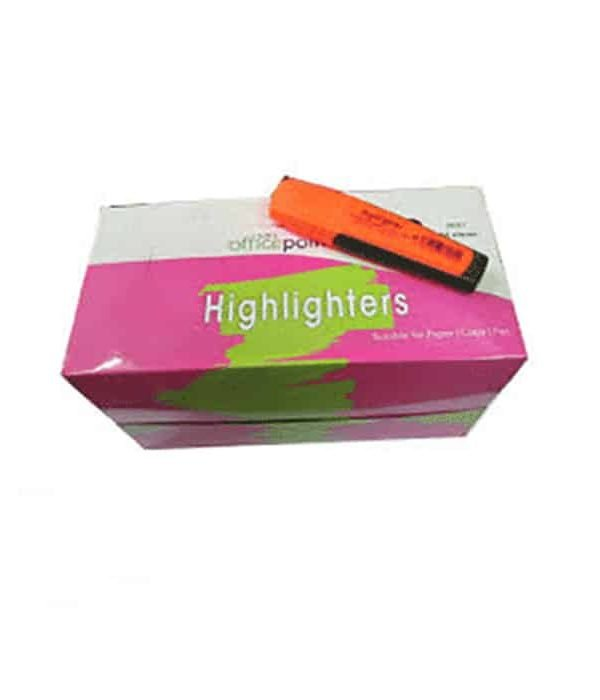 Orange Highlighter Hl-01 12-Pack