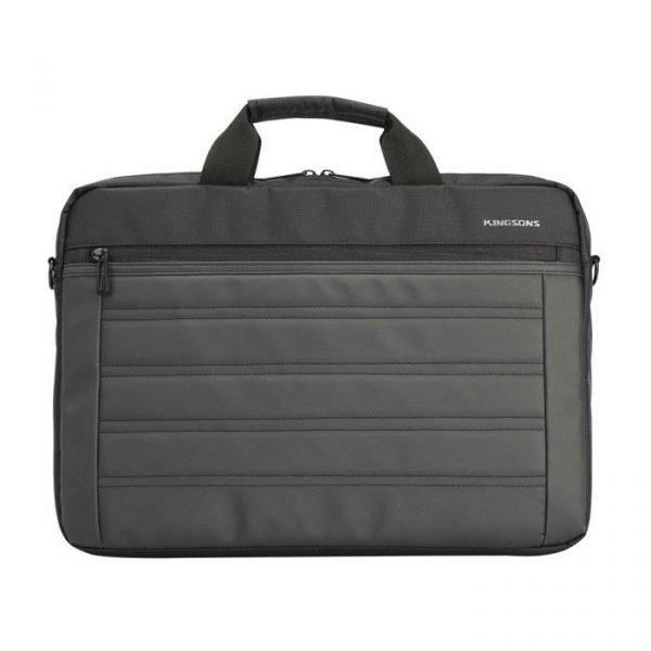 """BLACK KINGSONS 15.6"""" SHOULDER BAG - K9008W-BK"""