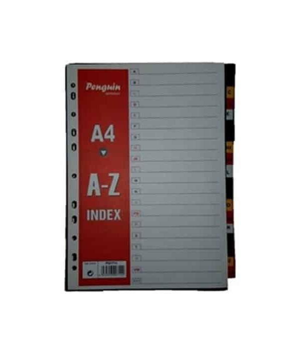PVC File divider Nos A-Z Assorted Colors