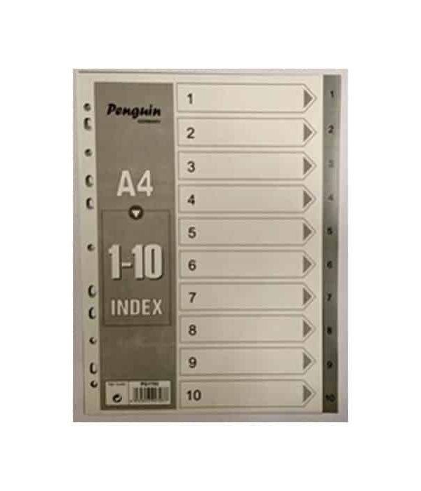 PVC File divider Nos1-10 Grey