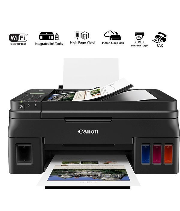 Canon PIXMA G4411 A4 Wi-Fi All-In-One (Print/Scan/Copy/Fax) - Black