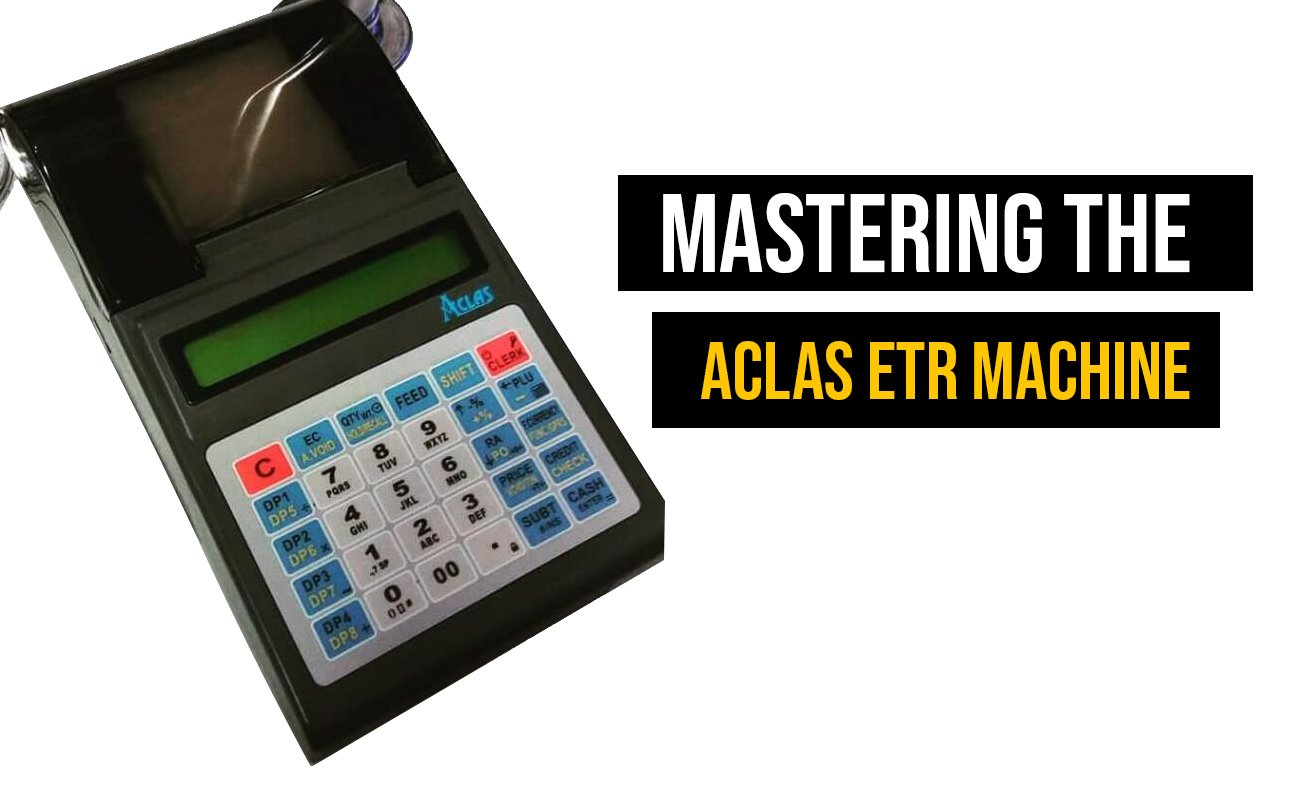 How to use an aclas ETR Machine