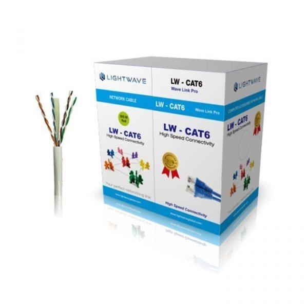 LIGHTWAVE CAT 6 NETWORK CABLE 305 METERS ROLL (UTP)